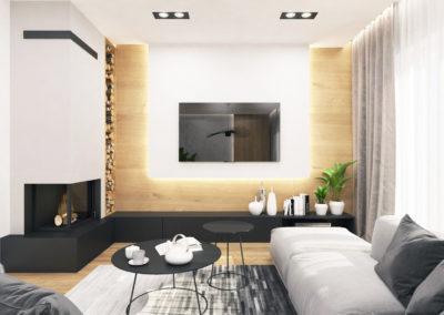 Wizualizacja salonu segmentu środkowego