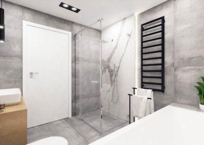 Wizualizacja łazienki segmentu środkowego