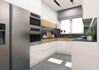 Wizualizacja kuchni segmentu środkowego 2