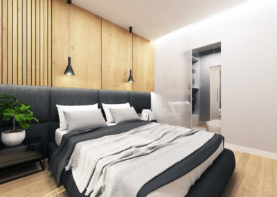 Wizualizacja sypialni segmentu narożnego 2