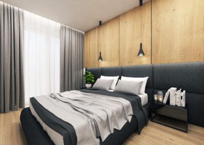Wizualizacja sypialni segmentu narożnego 1